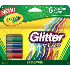 Crayola Color Sticks Glitter Markers Sparkling Crayola Markers Art Supply 6 Pack…