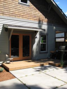 Craftsman Wood Exterior Door Awning Design, Pictures, Remodel, Decor and Ideas - page 3