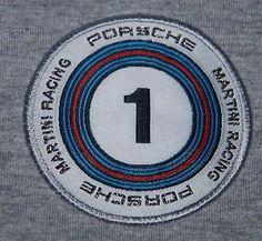 PORSCHE DESIGN POLO SHIRT TOP MARTINI # 1 DRIVERS SELECTION LONG SLEEVE GREY M