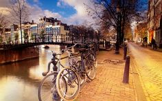 Amsterdam, Netherlands - Beautiful Places to Visit Beautiful Places To Visit, Oh The Places You'll Go, Places To Travel, Fotos Wallpaper, Amsterdam Wallpaper, Travel Around The World, Around The Worlds, Amsterdam Netherlands, Holland Netherlands