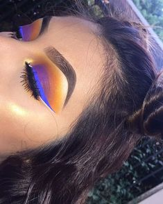 Love this look •Liner is NYX vivid brights liner in Vivid Sapphire •