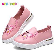 91ce3255d Zapatillas de deporte casuales zapatos deportivos escolares para las niñas  solos zapatos de cuero para niños