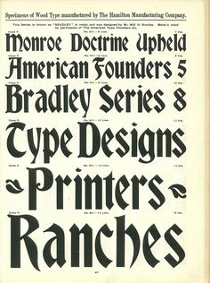 Hamilton Wood Type Catalog #14 Year : 1899-1900