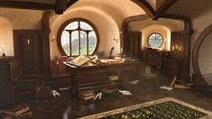 ArtStation - Bag End , Sam Robberechts Hobbit House Interior, Fairytale House, O Hobbit, Natural Building, Green Building, Earth Homes, Sustainable Architecture, Residential Architecture, Contemporary Architecture