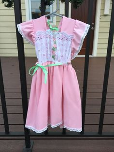 1970s Pink Dress 2/3T by lishyloo on Etsy