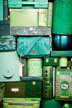 Oh, I really love all this yummy green and blue.  Photographed by Kris Atomic - or maybe by Anya Hindmarch.