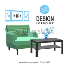 Armchair and side table