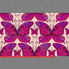 Butterfly custom vintage wallpaper: purple