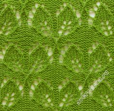 leaf lace knit pattern