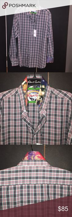 FIRM Price/Robert Graham X MEN Collection shirt Robert Graham 100% Woven Cotton Shirt.  This fun shirt is soft to the touch, tailored fit, contemporary fit, meticulously crafted, ease of movement. Robert Graham Shirts Casual Button Down Shirts