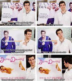 """Or more cloud...."" - Kendall Schmidt .. Oh muh, James lol;)"