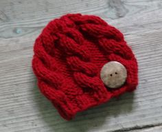 bb3042e4a72 Baby hat with coconut button Knit Cable Girl Hat by Ifonka Cable Knitting  Patterns