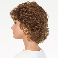 Short Layered Curly Hair, Short Permed Hair, Short Layered Haircuts, Curly Hair Cuts, Permed Hairstyles, Curly Wigs, Short Hair Cuts, Curly Hair Styles, Wedge Hairstyles
