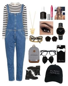 """School outfit"" by queenshaima ❤ liked on Polyvore featuring Oasis, M.i.h Jeans, Kendall + Kylie, Nasaseasons, Herschel Supply Co., Casetify, Marc Jacobs, Topshop, Erica Lyons and Gorjana"