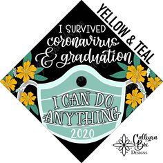 Grad Cap Topper Graduation gift Tassel custom grad quote grad cap decoration accessory Quarantine Surgical Mask I Survived I Can Do Anything Funny Graduation Caps, Graduation Cap Toppers, Graduation Cap Designs, Graduation Cap Decoration, Graduation Diy, Decorate Cap For Graduation, Decorated Graduation Caps, Funny Grad Cap Ideas, Graduation Cap And Gown