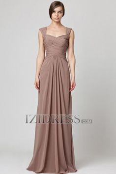 Sheath/Column Straps Chiffon Bridesmaids Dress - IZIDRESS.com