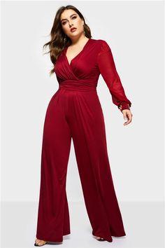 be4138cf416 Elegant Full Length Loose Plus Size Women s Jumpsuit