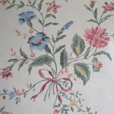 Waterhouse mid-19th Century Victorian Floral Repro Handprinted Wallpaper - Would love this in a feminine bedroom.