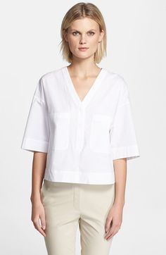 Theory 'Risata' Stretch Cotton Top available at #Nordstrom