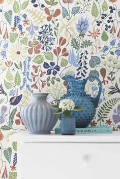 Wonderful Retro Wallpapers by Scandinavian designers.Herbarium by Stig Lindberg