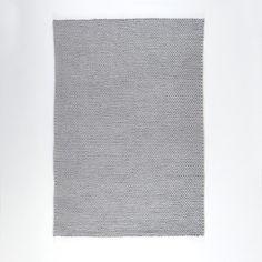 descente de lit pure laine effet maille tress e diano la. Black Bedroom Furniture Sets. Home Design Ideas
