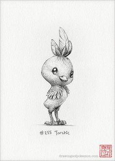 Torchic - 5 x print (pokemon drawing art artwork gaming nintendo decor) Sapphire Pokemon, Pokemon Real, Pokemon Fusion, Nintendo Pokemon, Pokemon Pokemon, Drawing Sketches, Pencil Drawings, Art Drawings, Watercolor Paintings