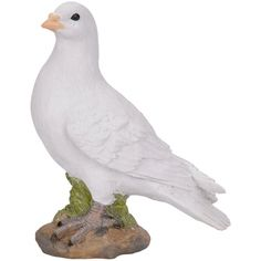 Duiven beelden wit 24 cm  Witte duif stenen beeld 24 cm. Stenen beeldje van een witte duif op een voetstukje. Deze polystone duif is ongeveer 24 cm groot.  EUR 7.95  Meer informatie