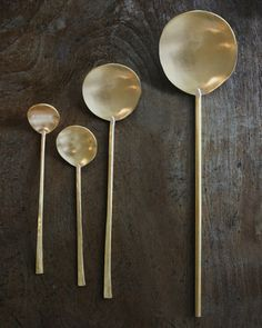 Tinkered brass spoons