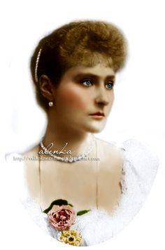 Empress Alexandra Fyodorovna Romanova of Russia (1872-1918), nee Princess Alix of Hesse, in the early years of her marriage.