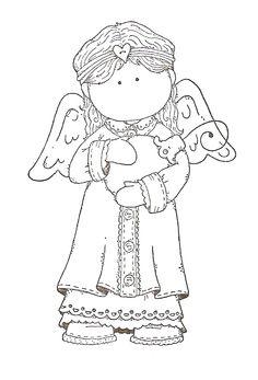 tilda ange portant une boule de Noël - Noël