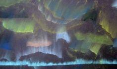 Aurora Australia, southern lights, northern lights - year 5 art lesson