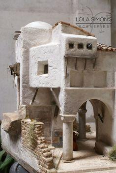 Construcción realizada en poliestireno extruido para figuras de 20cm Cántaros: Mibako