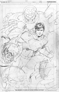 Action Comics #1 - Superman (unused cover) by Jim Lee *