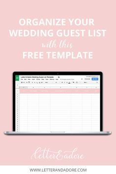 Keep Your Wedding Guest List Organized With This Free Template