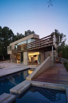 Point Dume Residence by Griffin Enright Architects exterior Residence Architecture, Houses Architecture, Architecture Unique, Residential Architecture, Interior Architecture, Online Architecture, Architecture Student, Landscape Architecture, Villa