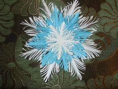 Simple Paper Feather Snowflake