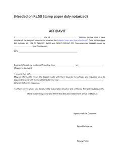 Affidavit Samples Free All Printables Freeallprintabl On Pinterest