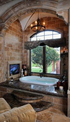 Luxury #Bathroom | Master #Bath with @BainUltra Amma 7242 flat deck #bathtub http://www.bainultra.com/therapeutic-baths/our-collections/amma/amma-oval-7242
