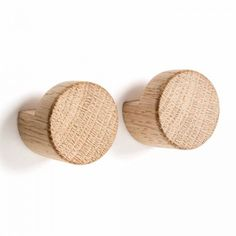 BY WIRTH Oak Knot Wall Hooks Set of 2