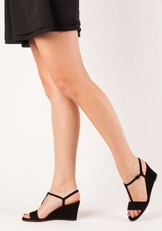 7337b34de3a7 Chie Mihara - Respito Wedge Sandal Black Suede - Jildor Shoes Black Wedge  Sandals