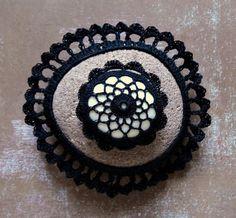 Miniature Art Crochet Lace Porcelain Stone Tiny by Monicaj on Etsy, $29.00