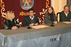 Basterrechea, Rey Varela, Martínez Beceiro y Fraga este jueves en rueda de prensa (foto: Concello de Ferrol)