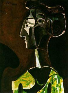 Pablo Picasso. Grand profil. 1963 year