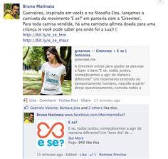 "Camiseta ""E se""? Bruno Matinata"