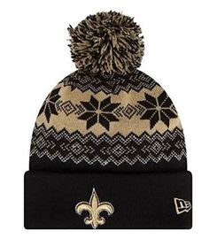 Amazon.com   New Era Nfl Snowburst Knit Hat SAINTS   Sports   Outdoors. New  Orleans Saints Snowburst Knit Cap Beanie with Pom 05486f28d