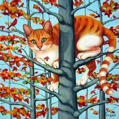Cat In Camouflage       Rebecca Korpita