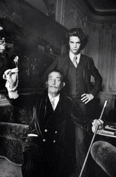 SALVADOR DALI & A VERY YOUNG YVES SAINT LAURENT