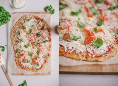 Glutenfri pepperonipizza på blomkålsbotten // Gluten free Cauliflower Crust Pepperoni Pizza