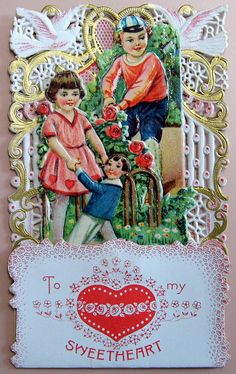 Vintage Pop-Up Valentine Day Card, To My Valentine, Made In Germany
