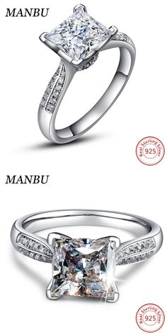 Apotie Sterling 925 Silver Rose ring simple wedding gift fashion promise engagement jewelry for women kMugIx